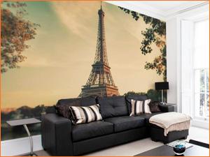 Фотообои с рисунком эйфелевой башни из парижа