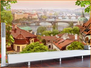 Панорамные фотообои на стену в квартиру с видом города